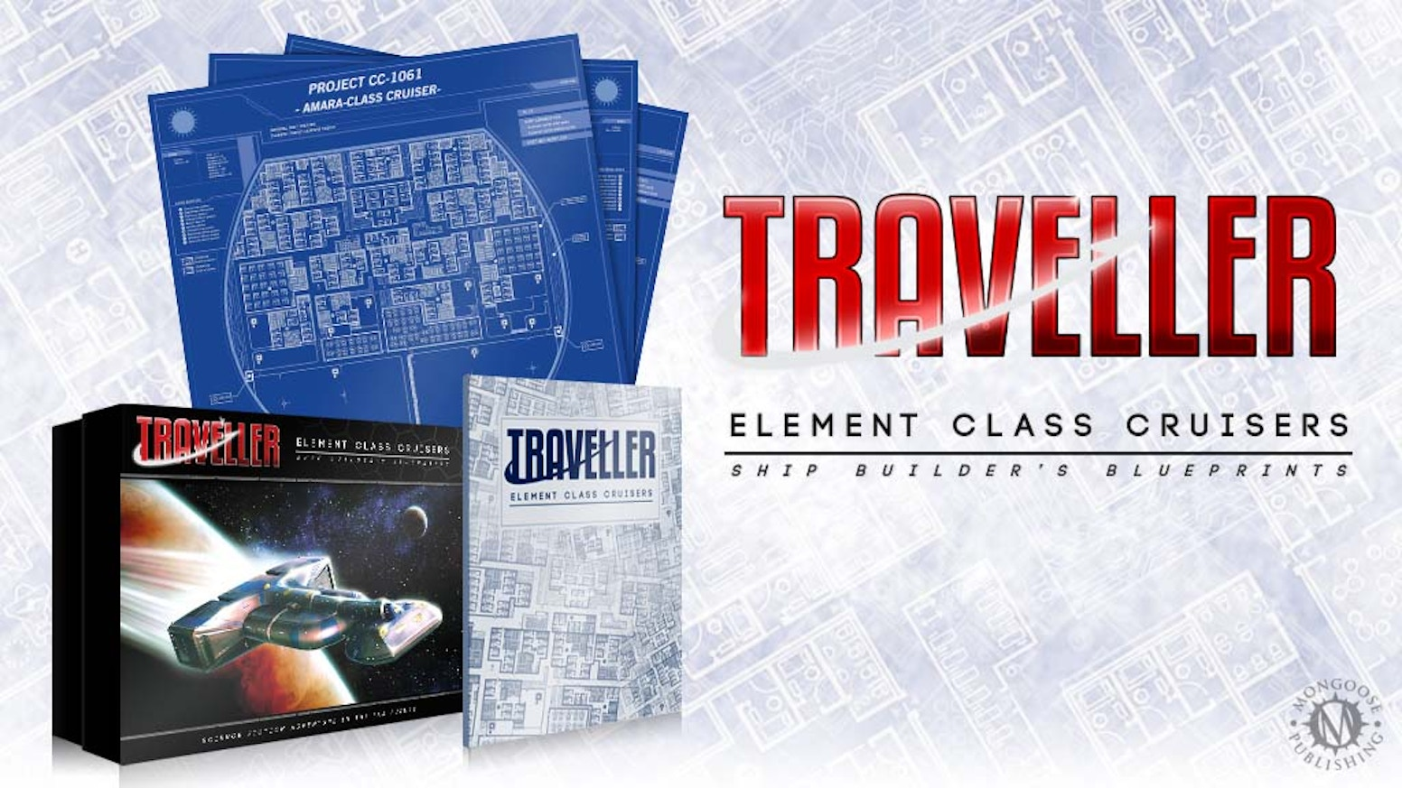 Traveller rpg element class cruisers box set by matthew sprange a box set for the latest edition of the traveller rpg exploring a huge cruiser complete with giant sized blueprints for every deck malvernweather