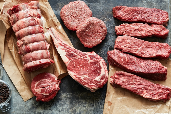 Primal Supply cuts of 100% grassfed beef