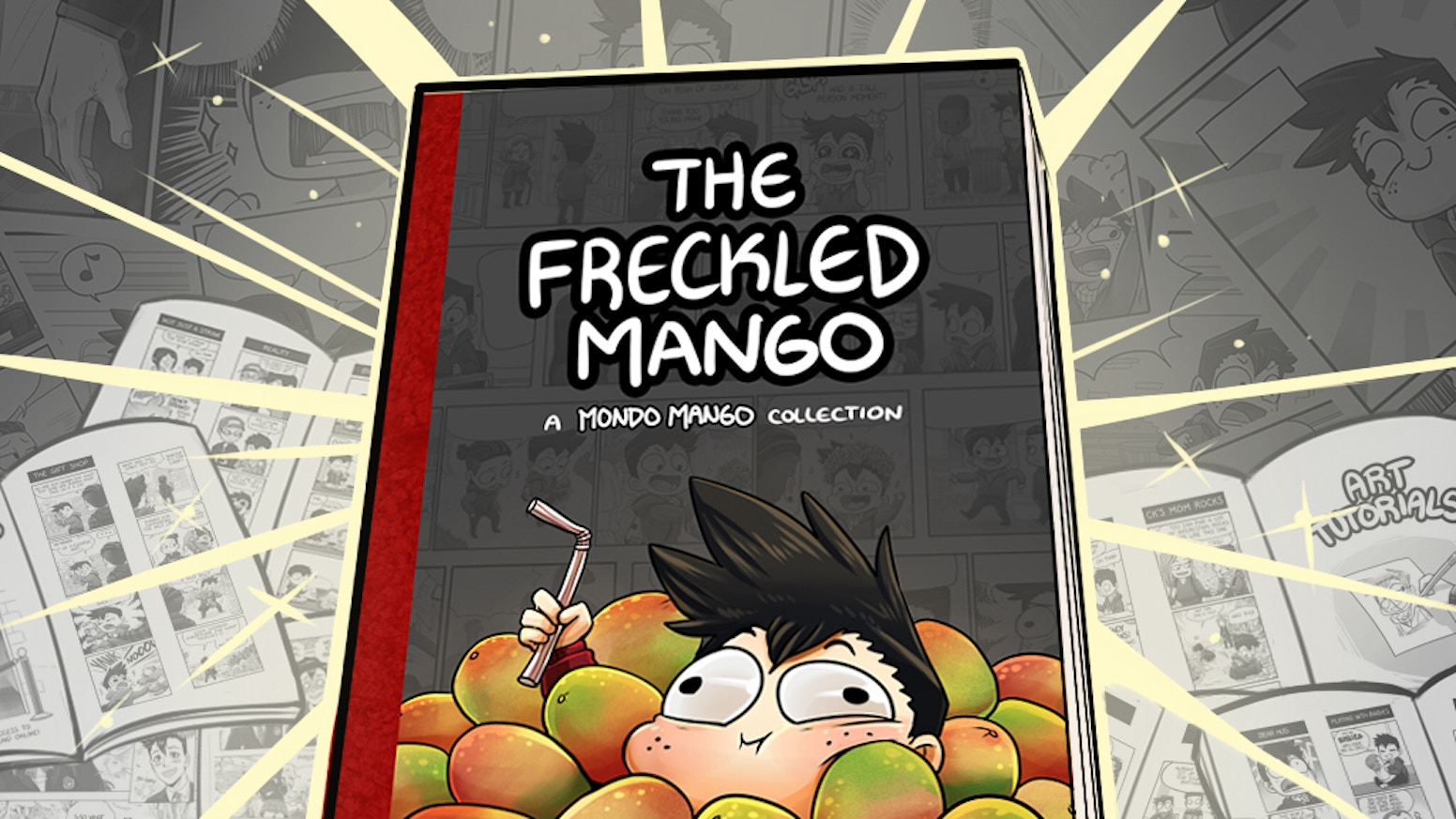 Packed with over 100 Mondo Mango strips plus exclusives, tutorials and more! Thank you to all those who supported & read my comics!