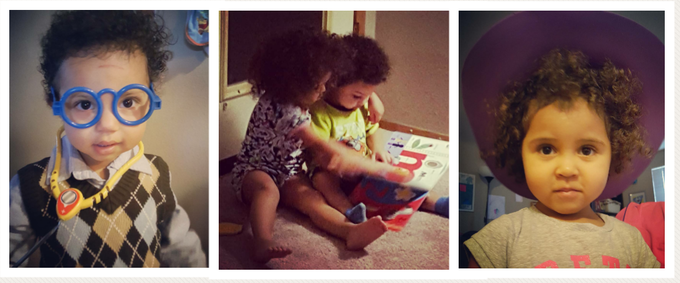 "Left: Judah Léon. Center: Our ""beige babies."" Right: Sophia Edwina"