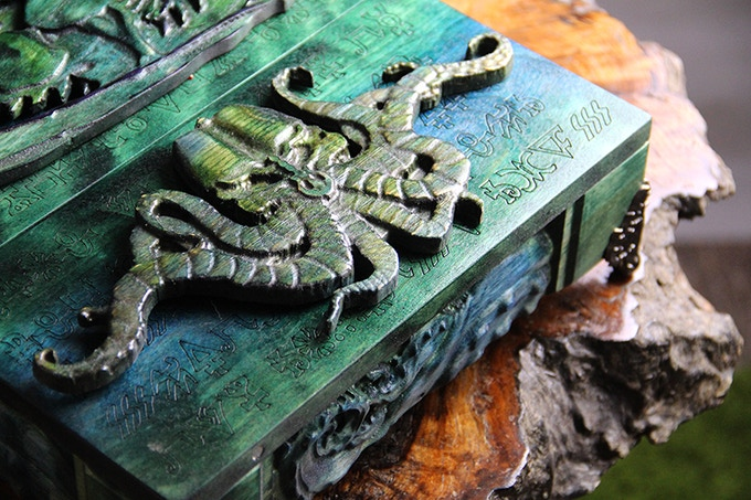 Fiery GM System with Moss finish, Tentacles Design, Arcane engraving, and Tentacles sculpts.