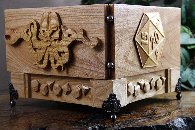 White Ash GM System with D20 and Tentacles Sculpts and Polys Design.