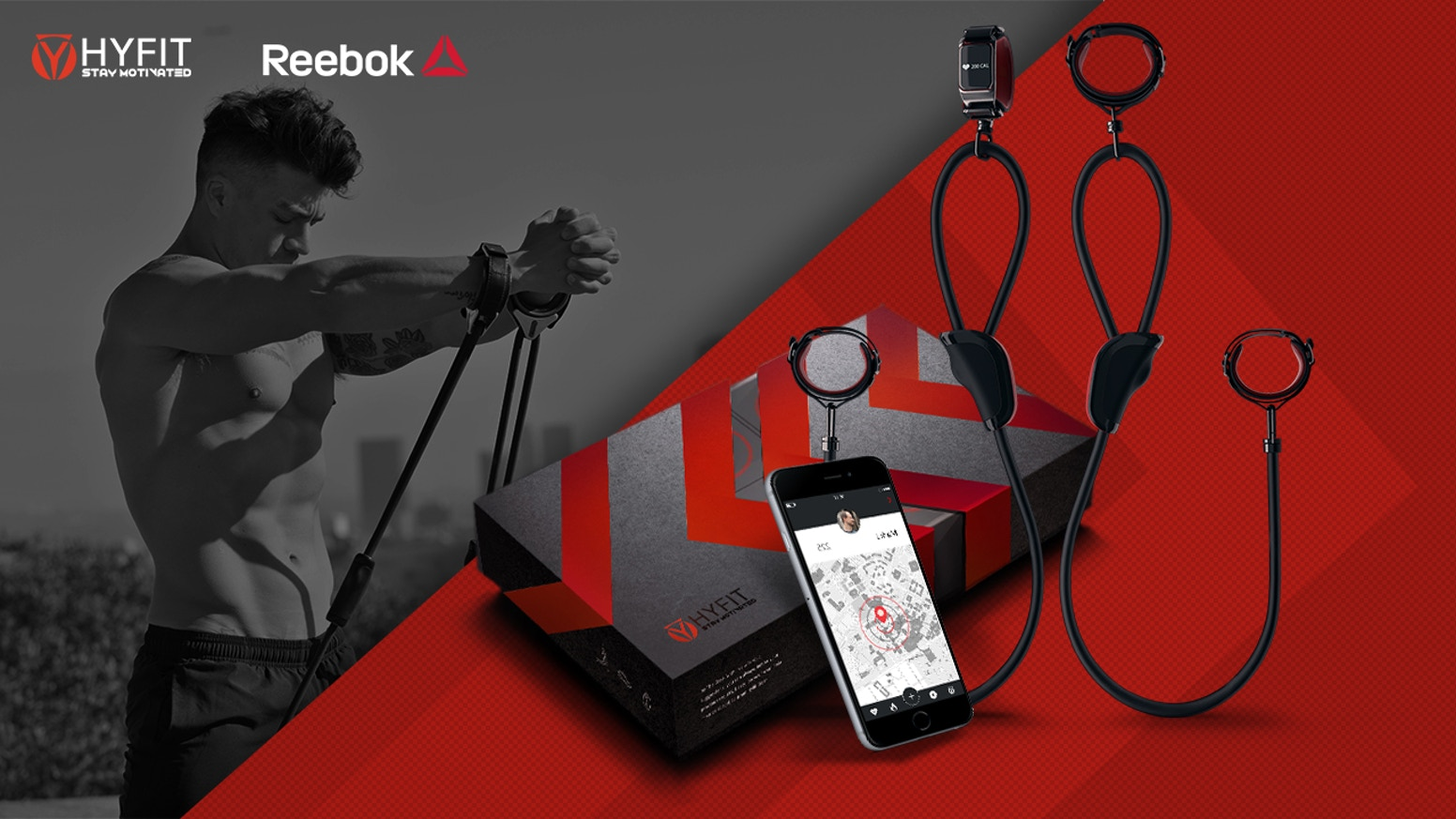 The Wearable Gym is a portable suspension training system and motivating program with tracking.