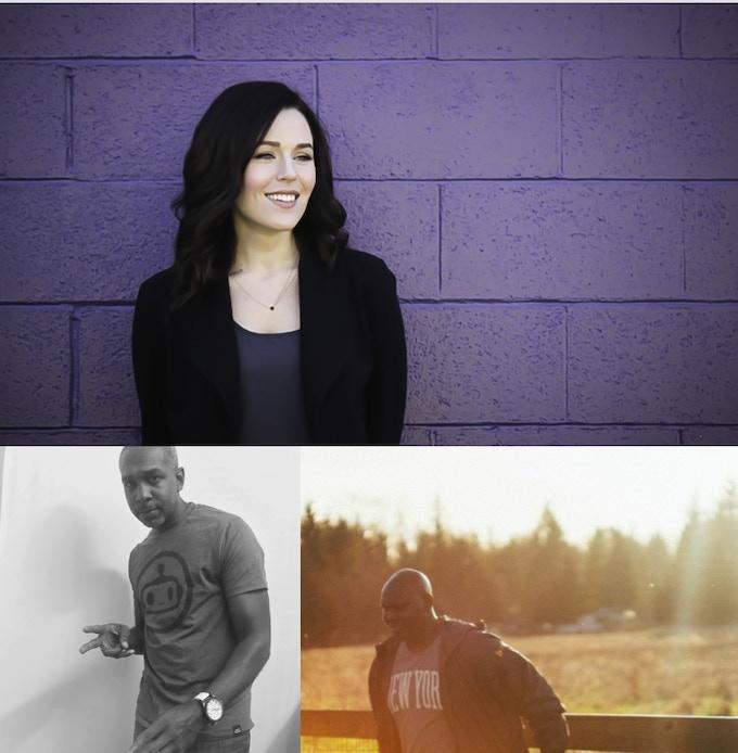Top: Brittany Wilde. Bottom: Ben Brownlee  and  Nick Eskridge
