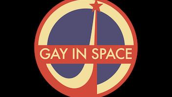 Gay In Space enamel pins.
