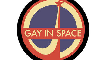 Gay In Space enamel pins.