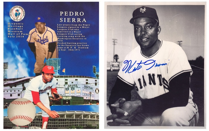 Pedro Sierra Poster and Monte Irvin Autographed Photo available for reward.  (Monte Photo has been claimed)