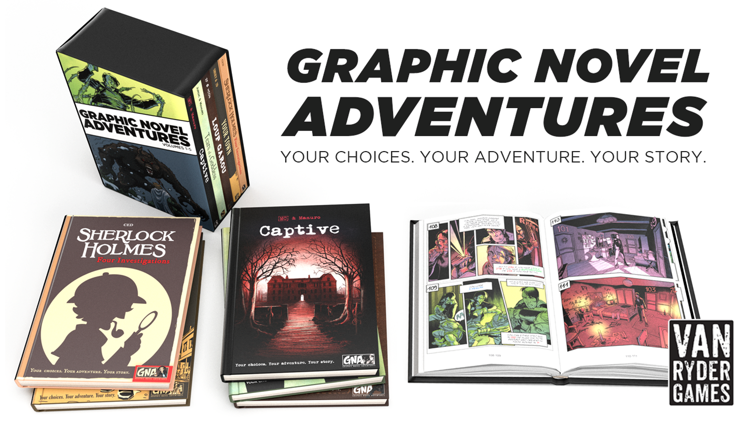 FIVE (5) Graphic Novel Adventures game books that take the genre to the next level by implementing graphics into the gameplay!