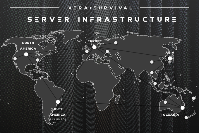 North America, Europe, Asia and Oceania servers will be available at launch, with South America soon after.