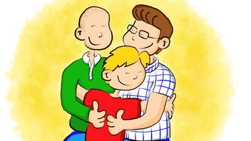 My Two Dads Are Amazing! An LGBT family book for schools.