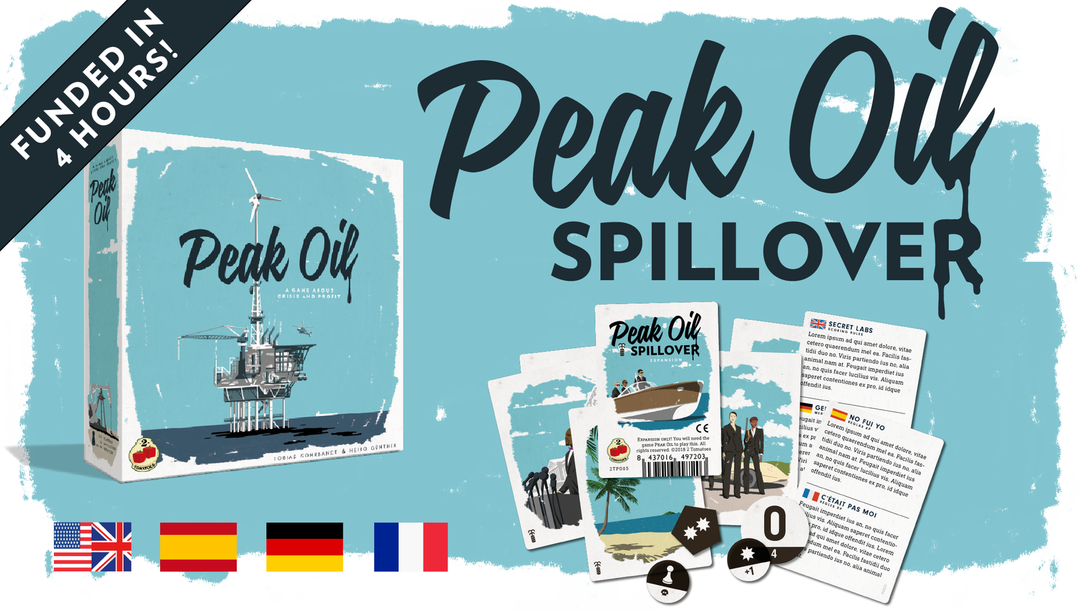 The first expansion for the tabletop hit Peak Oil introduces gameplay variants & new markers, adding octanes to your gaming experience!