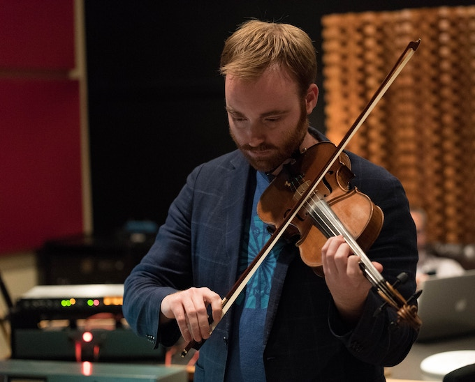 I play a fiddle solo on one track. Order the album to discover which one! (photo by Tim Brown)