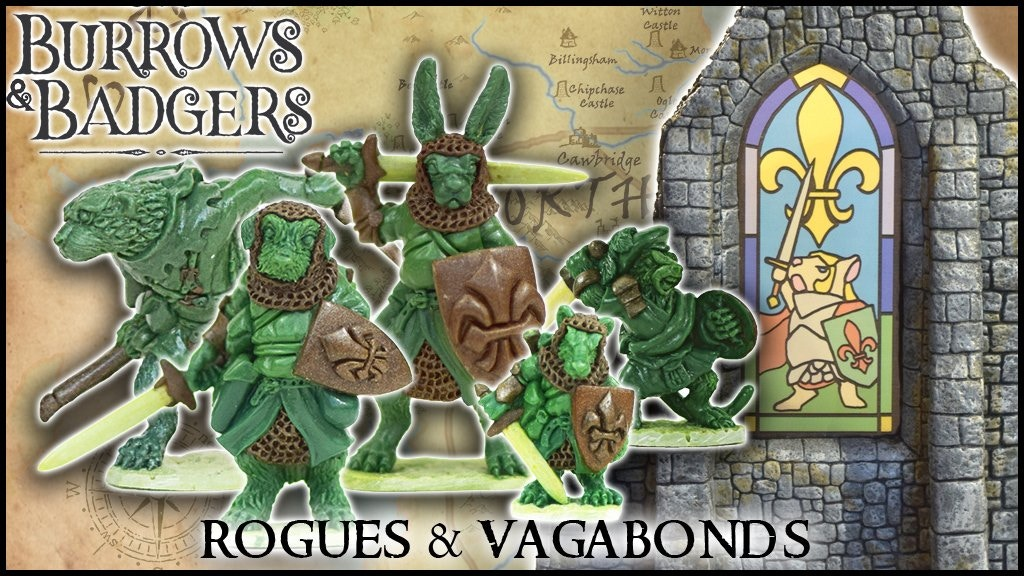 Burrows & Badgers: Rogues & Vagabonds - Anthro miniatures project video thumbnail
