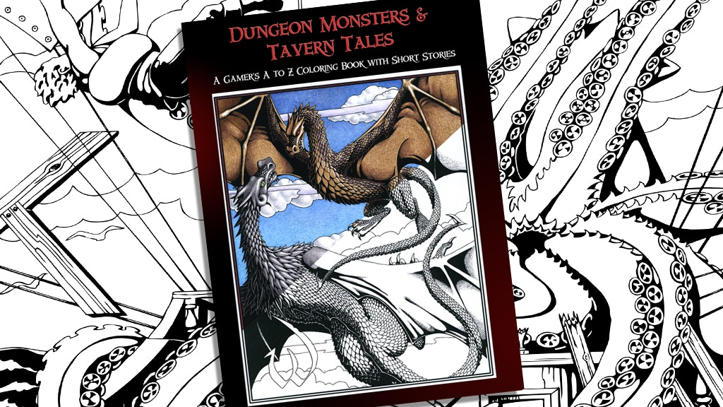 Dungeon Monsters & Tavern Tales: A Gamer's Coloring Book project video thumbnail