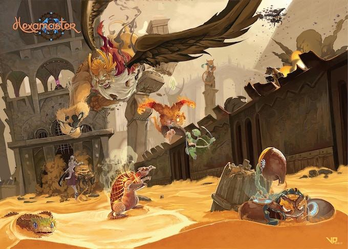 A completed scene - The desert of Amafar