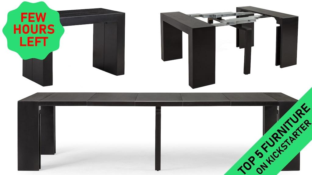 transformer table 2 0 6 tables in 1 by transformer table big news kickstarter. Black Bedroom Furniture Sets. Home Design Ideas