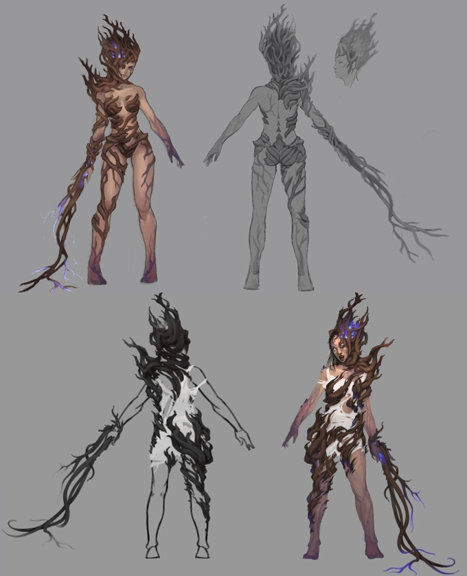 Early concepts of Elvali