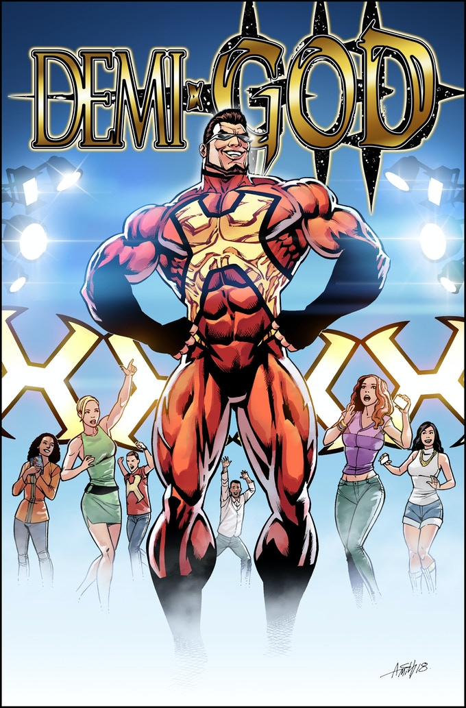 Cover Art for Demi-God:My Kick-Ass Graphic Novel