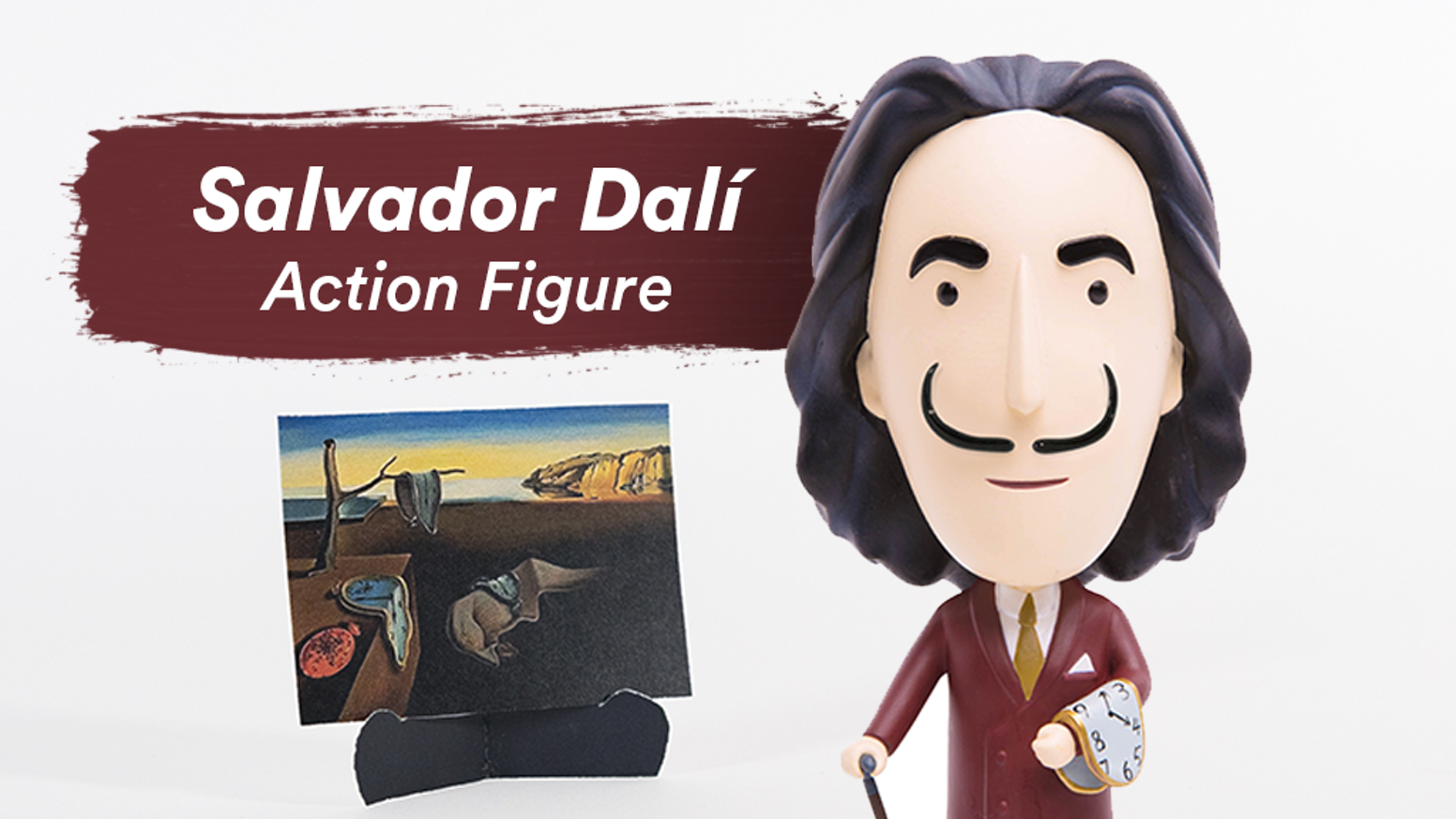 We turned Salvador Dalí into an action figure to celebrate his art and eccentricities!