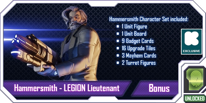 Another Lieutenant to lead your LEGION forces with! Looks like a nice guy, right? WRONG!