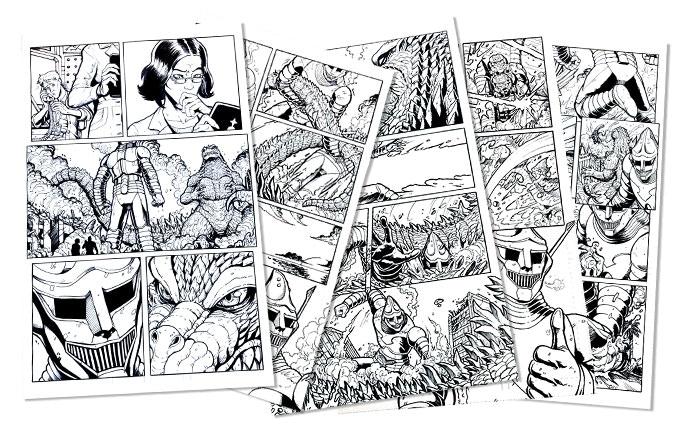 "11""x17"" Original Art by Matt Frank from IDW's Godzilla: Rulers of Earth Comic Book."