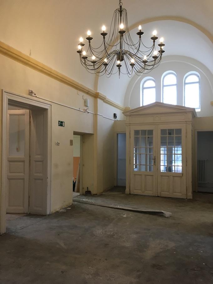 Main entrance - under renovation