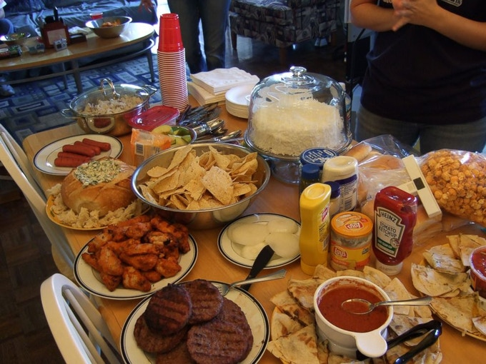 How do you tackle all this great FOOD! TrayCups of course!