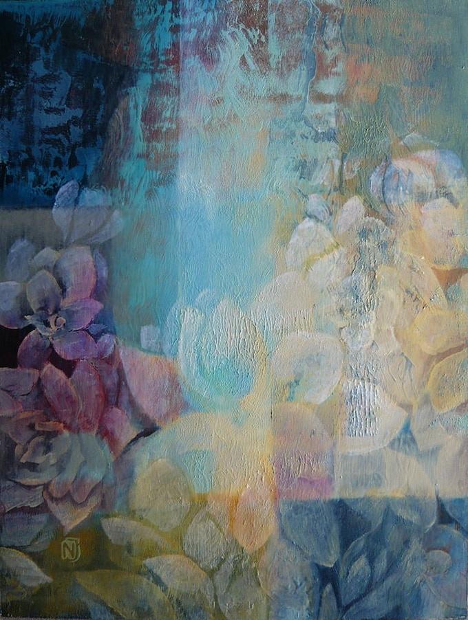 """Judit Nagy: Shining 35x46 cm (13.8""""x18.1"""") oil on wood"""