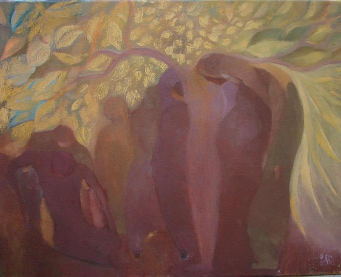 "Annamária Szoboszlai: After Easter 25x35cm (9.8""x13.8""), oil on canvas"