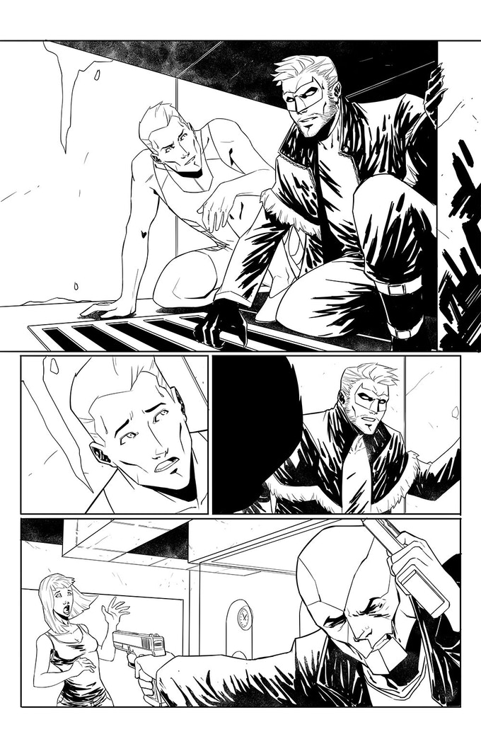 Page of Cem Iroz' art from The Pride Adventures #5