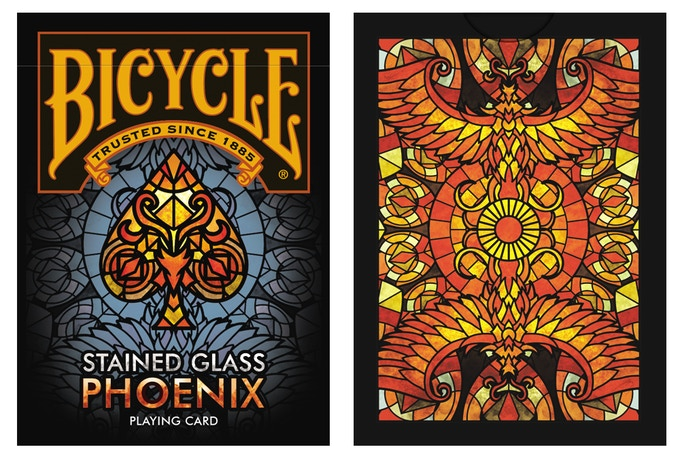 Bicycle Stained Glass Phoenix Playing Cards By Collectable Playing