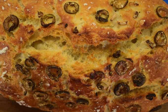 Olive and Garlic loaf made with LoafNest
