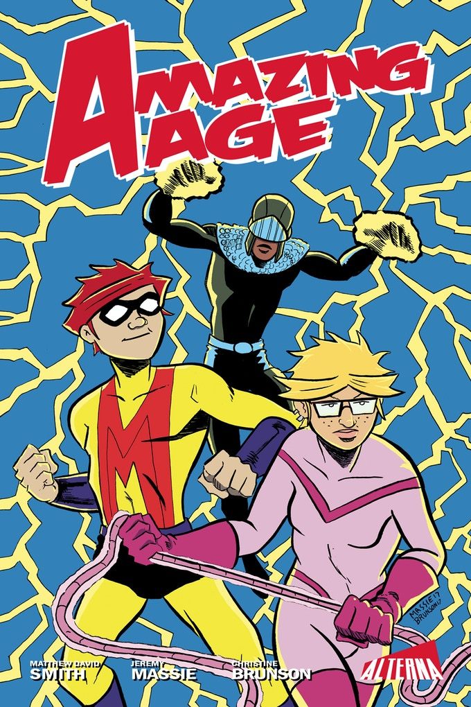 The graphic novel cover to AMAZING AGE.