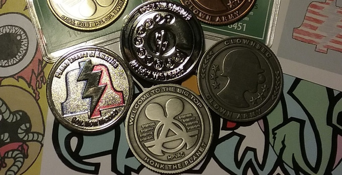 A comparison of our old crappy coins vs. Clownsec's awesome coins