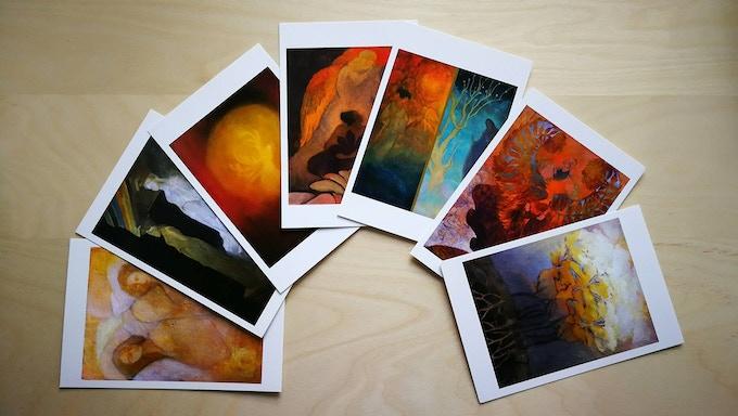 Art Postcards from Naput Studio's artists