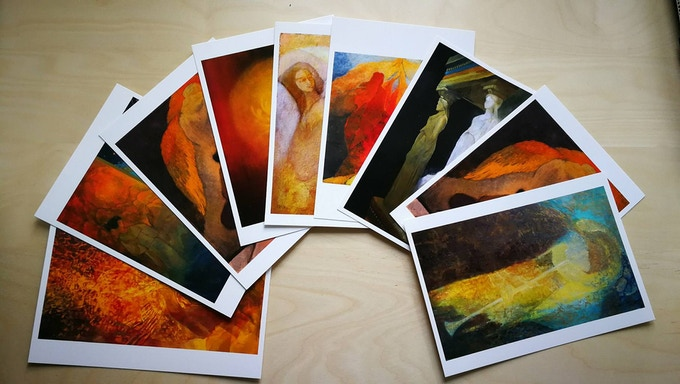 High Quality Art Prints with artist's thoughts - handmade