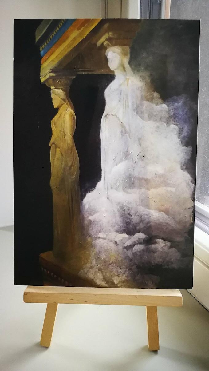 Kata Kozári: A Cariathide's dream - An example of A4 sized print