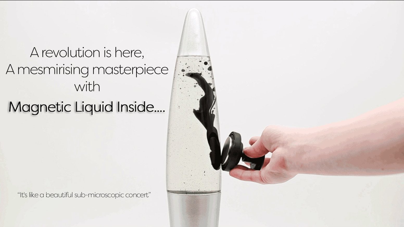 A RETRO DESIGN INTERACTIVE LAVA LAMP MADE WITH ROCKET FUEL INSPIRED BY NASA NANOTECHNOLOGY