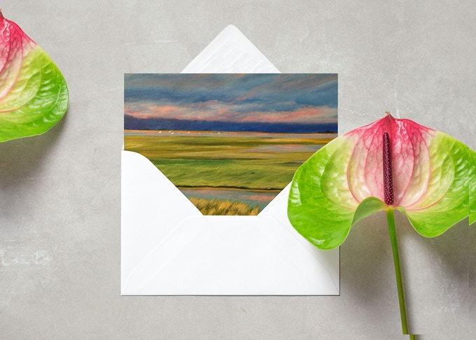 Postcards and Notecards with images of paintings by Dawn Nagle