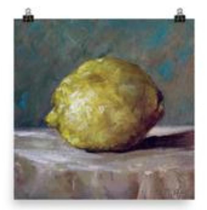 Lemon print, by Dawn Nagle