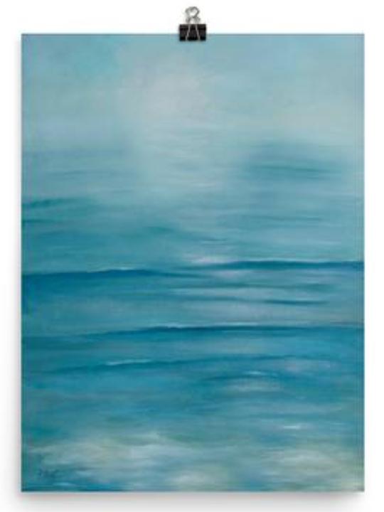 Tranquil Seas print by Dawn Nagle