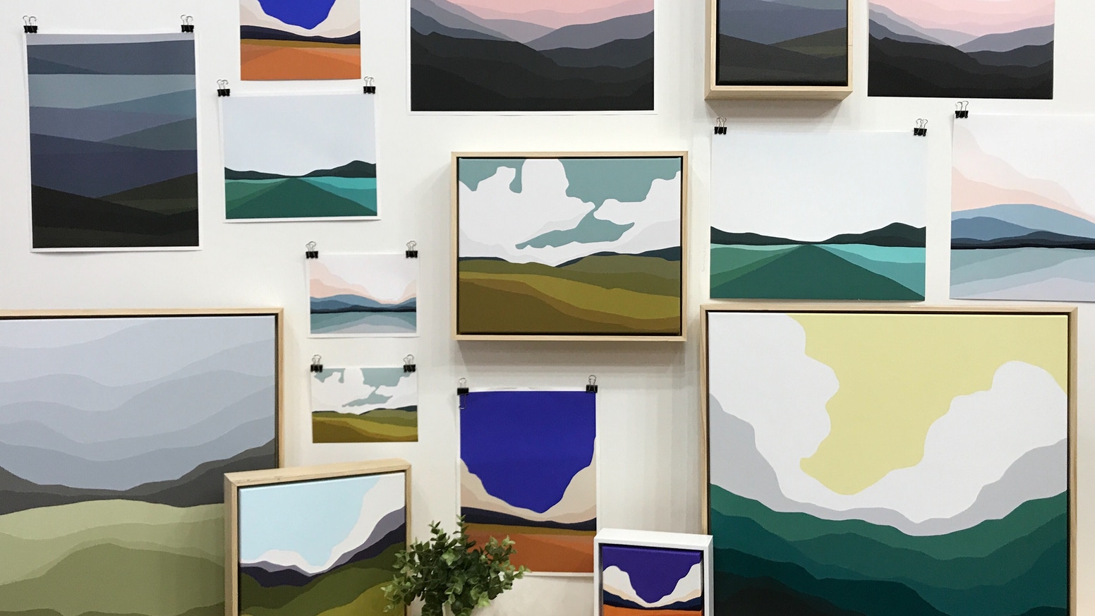 Colleen O'Connor is an acrylic painter expanding into a more diverse product line and looking to finish out her studio space.