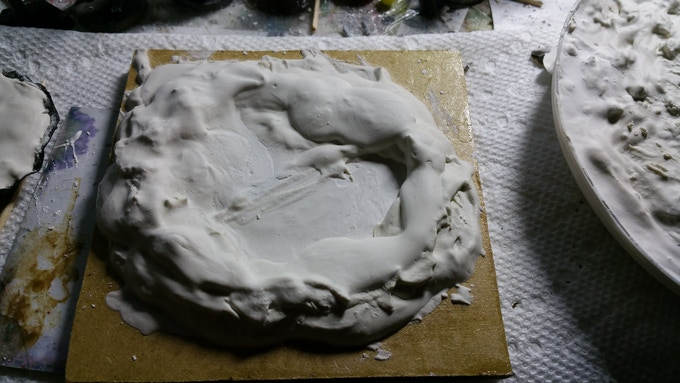 100mm prototype, in plaster, unpainted and unfinished.