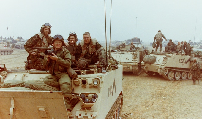 John Gaps in Kuwait, 1991