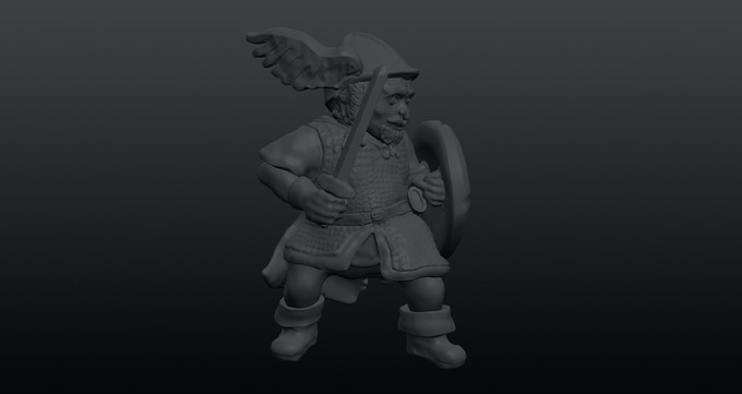 Example dwarf soldier trooper