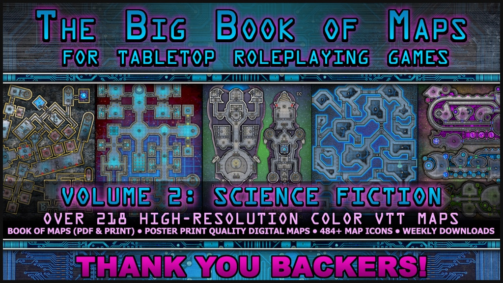 The Big Book of Maps (Volume 2): Science Fiction + VTT Maps project video thumbnail
