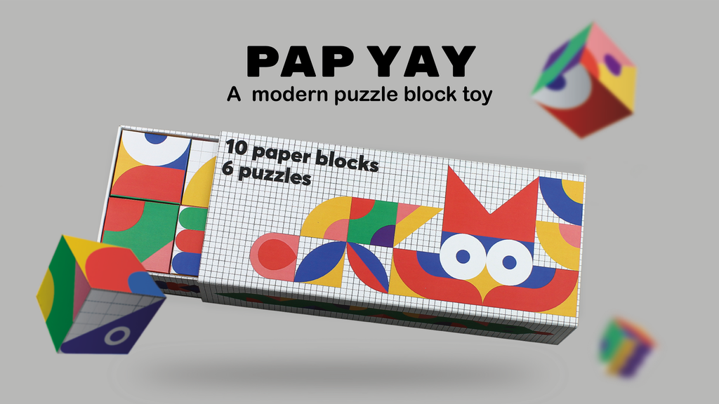 PAP YAY: a modern puzzle block toy project video thumbnail
