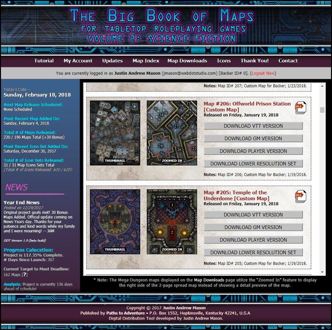 Screenshot of the Digtial Distribution Tool (DDT) website.