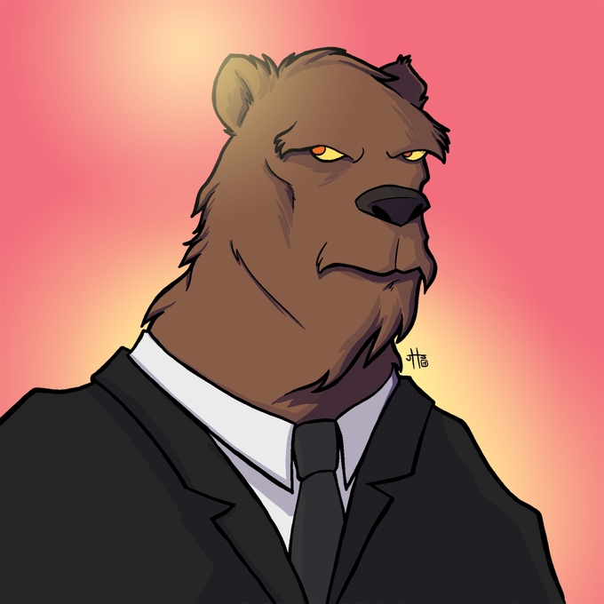 The Bear, suited up, by Jon Scrivens