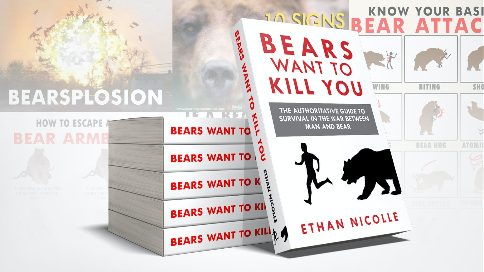 The authoritative guide to survival in the war between man and bear. ORDER ON AMAZON or click here to buy from my store: